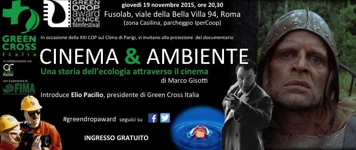 Verso Parigi 2015, una serata dedicata a Cinema & Ambiente. Il 19/11 a Roma