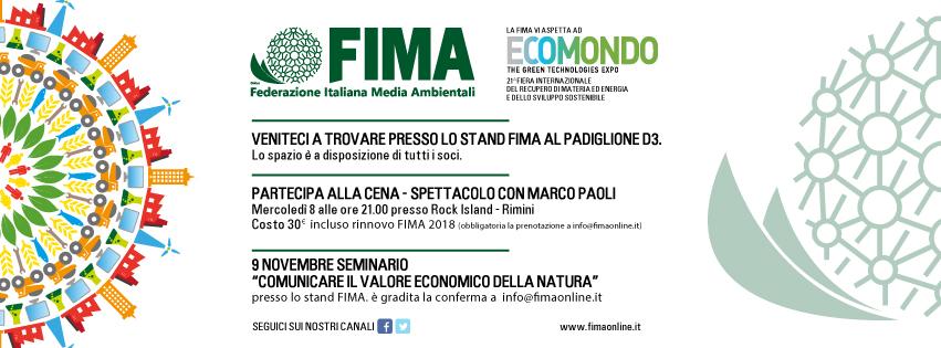 FIMA NEWS | Green night e dintorni, la Fima a Ecomondo 2017