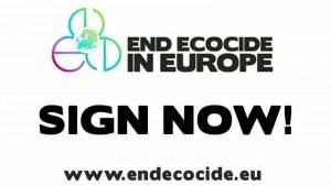 Il logo della campagna End of ecocide